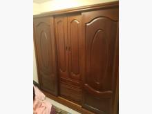 [8成新] 毅昌二手家具~柚木色實木7尺衣櫃衣櫃/衣櫥有輕微破損