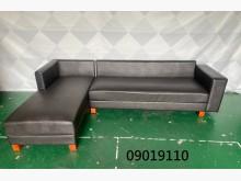 [9成新] 09019110 黑色L型沙發L型沙發無破損有使用痕跡
