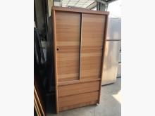 [8成新] 毅昌二手家具~木心板3尺推門衣櫃衣櫃/衣櫥有輕微破損