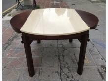 [8成新] 三合二手物流(實木大理石餐桌)餐桌有輕微破損