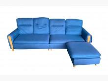 [8成新] A9106*藍色L型布沙發*L型沙發有輕微破損