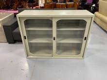[9成新] C83008*4尺玻璃門鐵櫃辦公櫥櫃無破損有使用痕跡