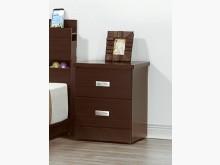 [全新] 山寨胡桃二抽床頭櫃 桌面耐磨皮床頭櫃全新