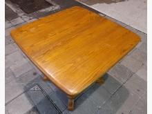 [8成新] 實木蝴蝶伸縮餐桌茶几有輕微破損
