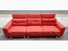 [8成新] 橘色三人座布沙發雙人沙發有輕微破損