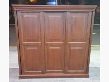 [8成新] 胡桃七尺滑門衣櫃衣櫃/衣櫥有輕微破損
