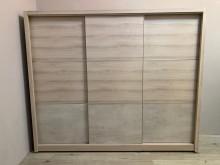 [全新] 吉田二手傢俱❤全新8尺橡木衣櫃滑衣櫃/衣櫥全新
