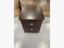 [9成新] B90515*胡桃色二抽床邊櫃床頭櫃無破損有使用痕跡