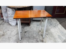 [全新] A級實木板面鐵脚可收餐.4千免運餐桌全新