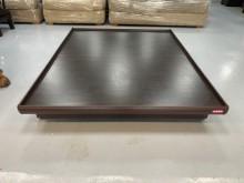 [9成新] B90517*胡桃色5尺掀床雙人床架無破損有使用痕跡