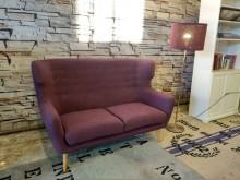 [9成新] 紫羅蘭拉扣雙人布沙發雙人沙發無破損有使用痕跡