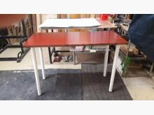 [全新] 松木板面鐵脚可收餐桌.4千免運餐桌全新