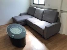 [8成新] 布沙發  含圓桌 自取L型沙發有輕微破損
