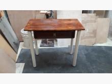 [全新] 手作松木柚木色書桌玄關桌鐵脚可收書桌/椅全新