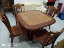 [8成新] 伸(6人)縮(4人)式長方形餐桌餐桌有輕微破損