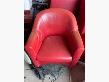 [7成新及以下] 免費贈送二手紅色皮沙發其它桌椅有明顯破損
