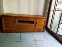 [9成新] 二手實木電視櫃電視櫃無破損有使用痕跡