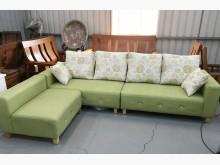 [全新] 水鑽L型 - 貓抓皮沙發抱枕組L型沙發全新