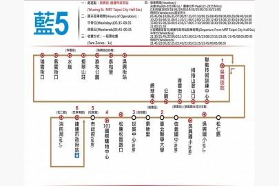 藍5公車線(截自網路)