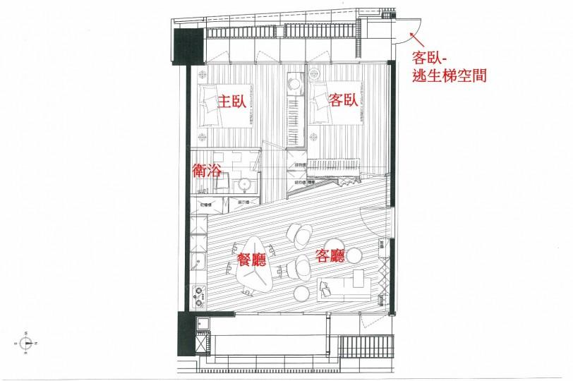 A3戶2房31坪實品屋規劃