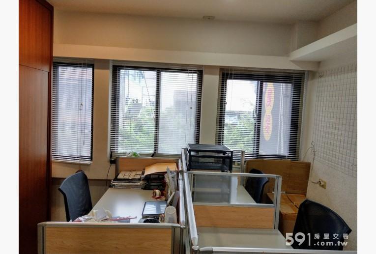 台北租屋,中山租屋,住辦出租,大辦公室現擺3張辦公桌, 可當臥