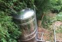 已設置白鐵水塔一座、灌溉設備